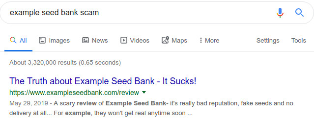 cannabis seed bank scam rip-off report