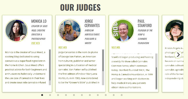 Judges for the Seedsman Photo Cup